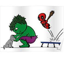 Deadpool's Hulkbuster Poster