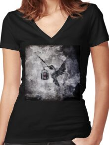 When The World Has Fallen Out Women's Fitted V-Neck T-Shirt