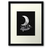 Moon Ship Framed Print