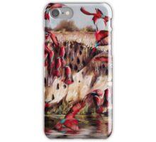 Carmine Bee Eaters iPhone Case/Skin