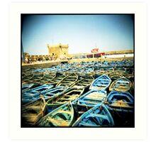 The Classic Essaouira Boat Shot Art Print