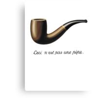 La trahison des images (The Treachery of Images) Canvas Print