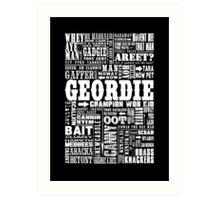 Geordie Sayings Print Art Print