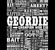 Geordie Sayings Print by DOOLALLY