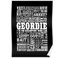 Geordie Sayings Print Poster