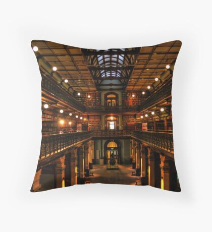 Mortlock Library HDR Throw Pillow