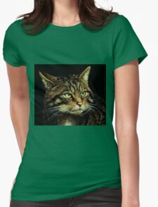 Scottish Wildcat close up Womens Fitted T-Shirt