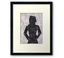 Stickytape man Framed Print