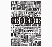 Geordie Sayings Print Black Kids Clothes