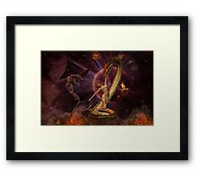 Battle of the Beasts Framed Print