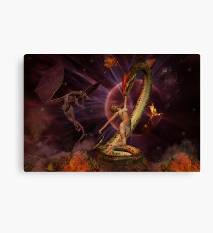 Battle of the Beasts Canvas Print