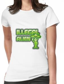 Funny Illegal Alien Womens Fitted T-Shirt