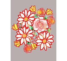 Bonny Flowers COLLECTION TEES,CASES,CUSHION BAGS.ETC Photographic Print