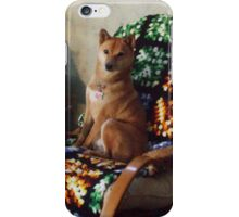 Sporty in his favorite chair iPhone Case/Skin