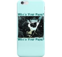 PAPA EMERITUS II CLOSE-UP who's your papa? - DESTROYED PASTELS iPhone Case/Skin