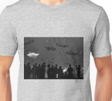 4 Groupers and a Manta (B&W) Unisex T-Shirt