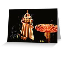 Helter-skelter and merry-go-round Greeting Card