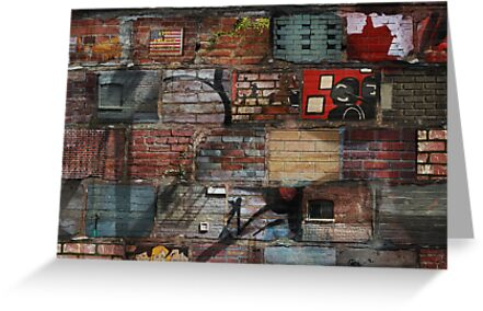 Brick Laden Graffiti by Theodore  Jones