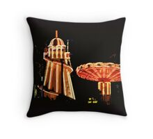 Helter-skelter and merry-go-round Throw Pillow
