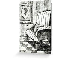 Comfortable Striped Chair Greeting Card