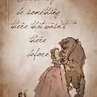 Beauty and the Beast inspired valentine. by topshelf