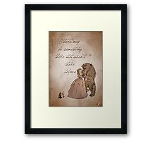 Beauty and the Beast inspired valentine. Framed Print