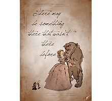 Beauty and the Beast inspired valentine. Photographic Print