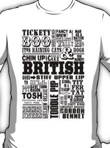 British Sayings Print T-Shirt