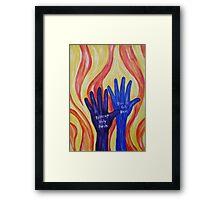 Raise up Holy hands Framed Print