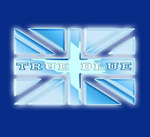 Cool Britannia, Union Jack, UK, British Flag, True Blue, Ice Cool by TOM HILL - Designer