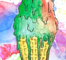 Ice Cream of Water and Colors Sticker