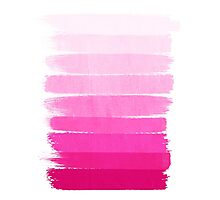 Luca - Ombre, pink, brushstroke, art, painting for trendy girls cell phone Photographic Print