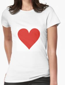 Red heart on white Womens T-Shirt