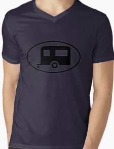 Travel Trailer Camper Oval Mens V-Neck T-Shirt