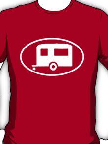 Travel Trailer Camper Oval T-Shirt