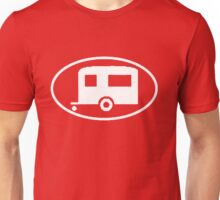 Travel Trailer Camper Oval Unisex T-Shirt