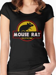 Jurassic Mouse Rat Women's Fitted Scoop T-Shirt