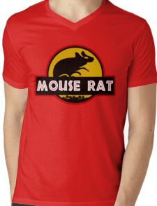 Jurassic Mouse Rat Mens V-Neck T-Shirt
