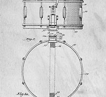 Snare Drum original patent art for musicians by Edward Fielding