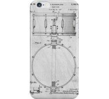 Snare Drum original patent art for musicians iPhone Case/Skin