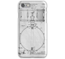 Snare Drum original patent art for musicians iPhone Case/Skin