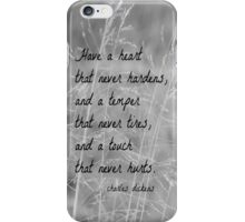 Charles Dickens Heart iPhone Case/Skin
