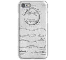 Baseball original patent art iPhone Case/Skin