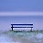A snowy Bench on a frozen Lake............. by Imi Koetz