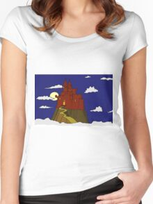 Magical castle in the clouds Women's Fitted Scoop T-Shirt