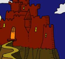 Magical castle in the clouds Sticker