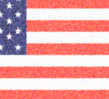 American flag, Stars & Stripes, Old Glory, The Star-Spangled Banner, Faded. America, USA Sticker