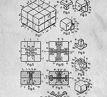 Rubics Cube Patent Art by Edward Fielding