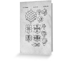 Rubics Cube Patent Art Greeting Card