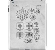 Rubics Cube Patent Art iPad Case/Skin